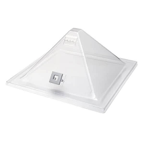 "Rosseto SA123 Clear Acrylic Pyramid Cover with Flip Door 15.2"" x 15.2"""