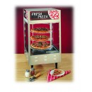 "Nemco 6452-2 4-Tier Rotating Double Door Rotating Pizza Merchandiser, 18"" Racks"