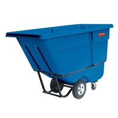 Rotomolded Tilt Truck, Rectangular, Plastic, 1250-lb Cap., Blue