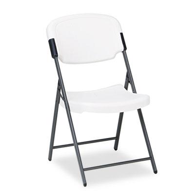Rough 'N Ready Folding Chair, Platinum Seat/Platinum Back, Black Base