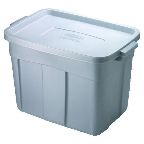 Roughneck Storage Box, 1gal, Steel Gray