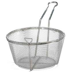 Round 4-Mesh Nickel-Plated Fryer Basket - 11-1/4