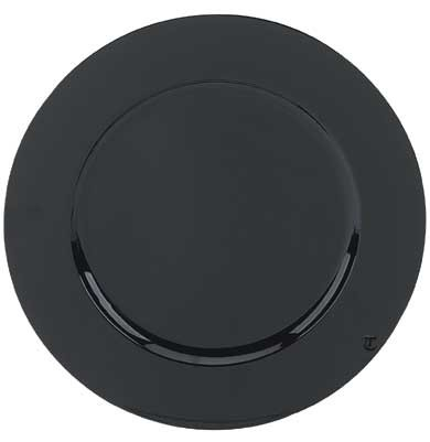 "Round Acrylic Black 13"" Charger Plate- Box of 24"