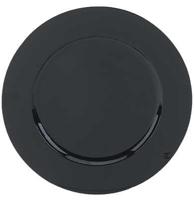 "Ya Ya Creations CHRG_1301_BLK Black Round Acrylic 13"" Charger Plate"
