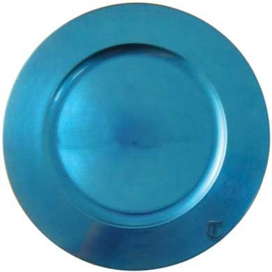 "Tabletop Classics TRBL-6651 Round Acrylic Blue 13"" Charger Plate"