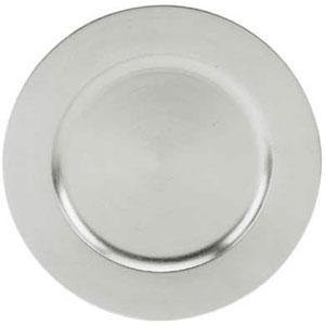 Round Acrylic Silver Charger Plate, 13