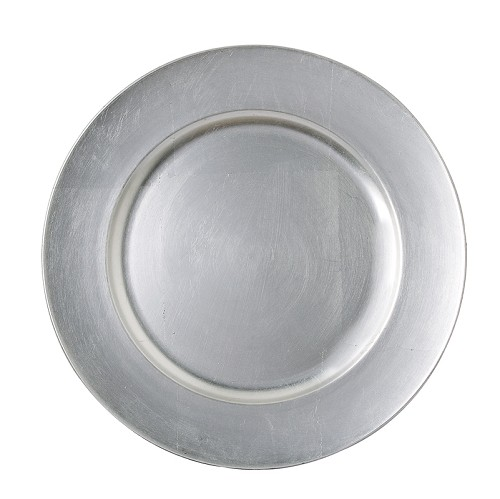 "TigerChef Round Melamine Silver 13"" Charger Plate"