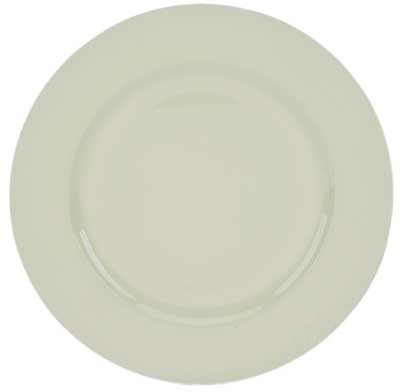 """Round Acrylic White Beaded 13"""" Charger Plate- box of 24"""