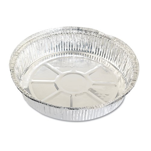 Round Aluminum Carryout Containers, 9 inch