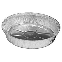 Round Aluminum Container, 37 oz, 8 in, 500/Case