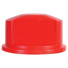 Round Brute Dome Top, 22 11/16dia x 12 1/4h, Red