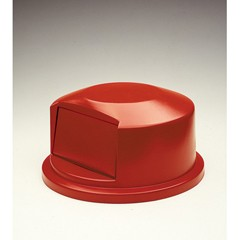 Round Brute Dome Top w/Push Door, 24 13/16 x 12 5/8, Red