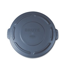 Round Brute Flat Top Lid, 16 x 1, Gray