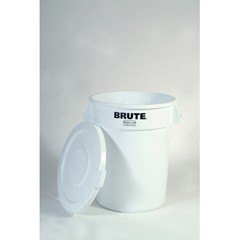 Round Brute Flat Top Lid, 22 1/4 x 1 5/8, White (lid only)