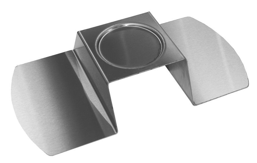 "Rosseto SM171 Round Stainless Steel Brushed Finish Burner Stand 14"" x 7.25"" x 2.5"""