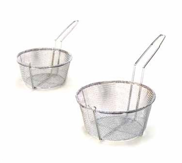 TableCraft 687 Chrome-Plated Round Fry Basket 8-1/2""