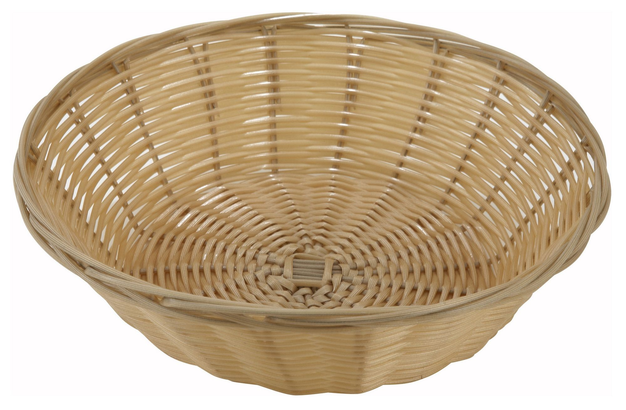 Round Poly Natural Woven Basket
