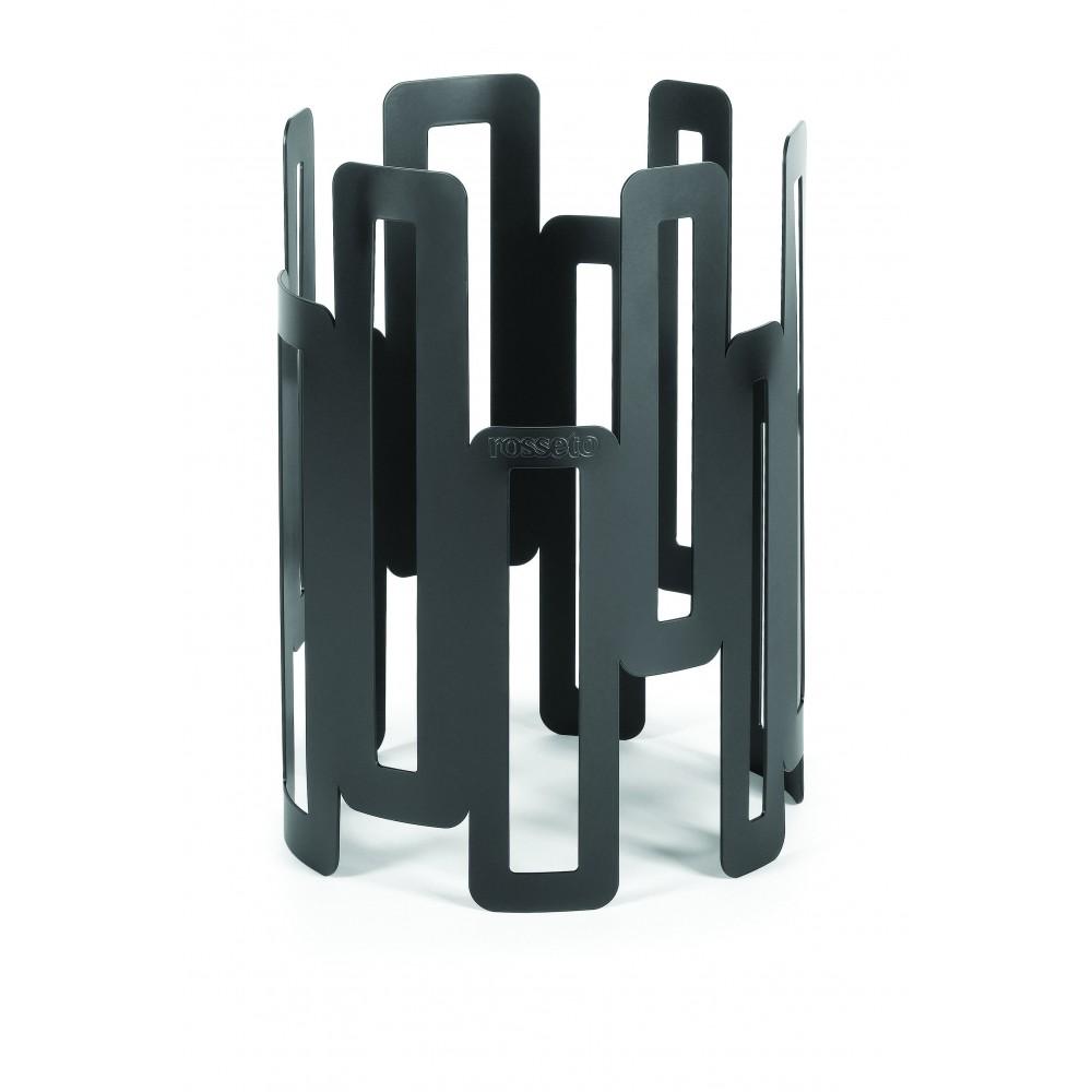 """Rosseto SM126 Black Matte Steel Tall Round Riser 8"""" x 11""""H"""