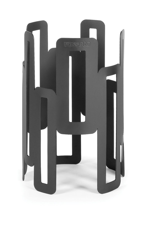 """Rosseto SM127 Black Matte Steel Tall Round Riser 6.5"""" x 10""""H"""