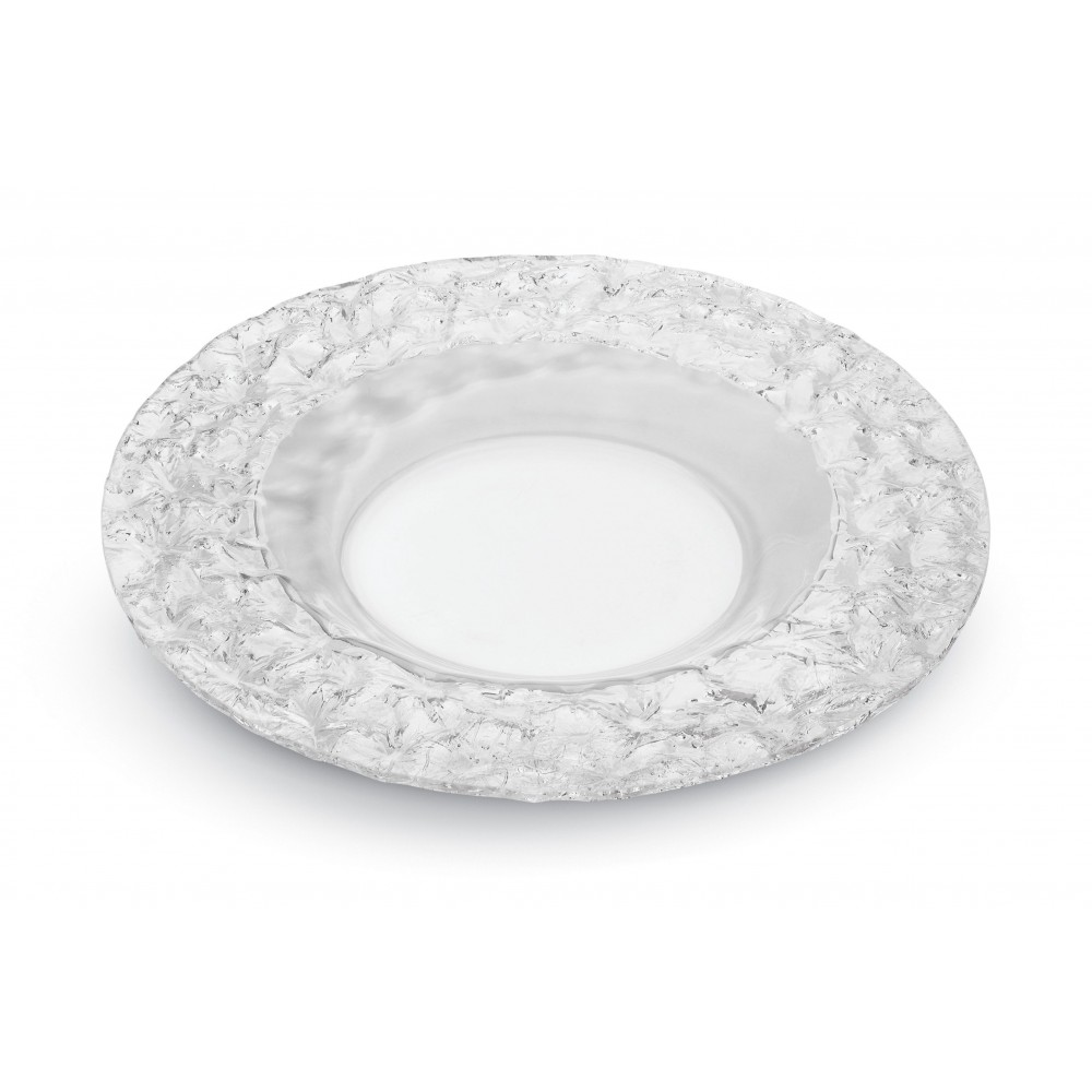 Round Serving Platter Clear Acrylic - 8