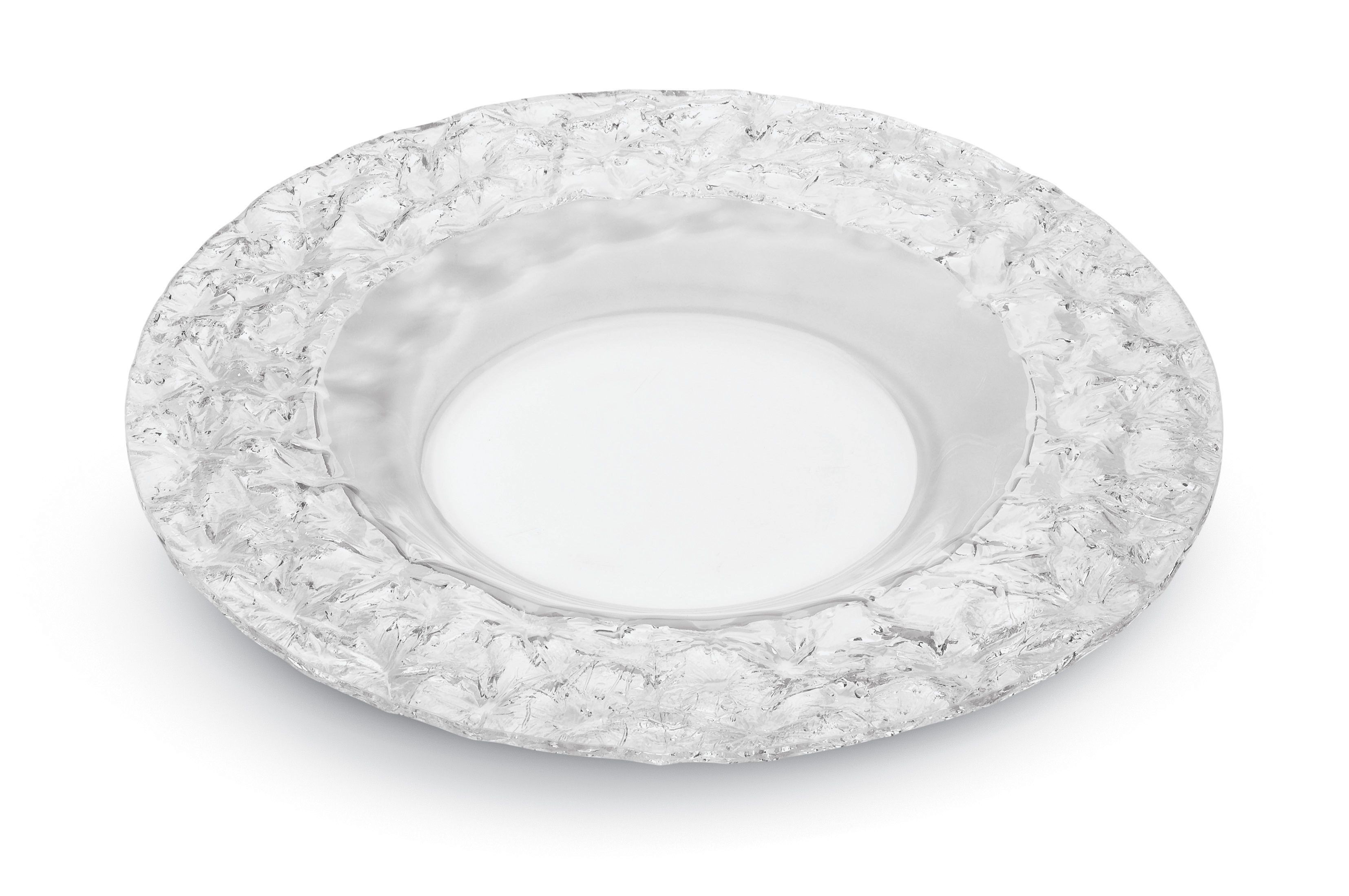 Round Serving Platter Clear Acrylic- 10