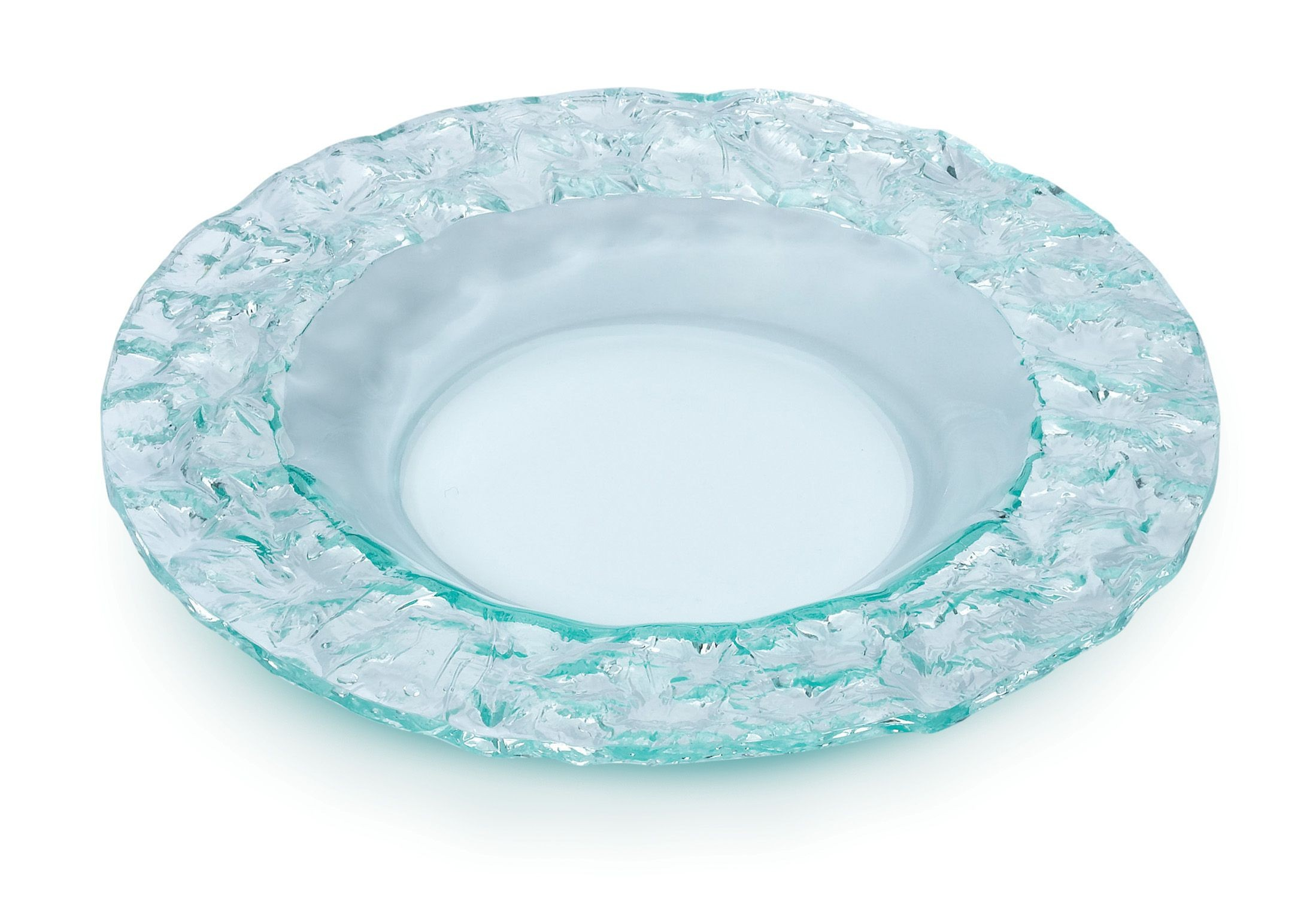 Round Serving Platter Green Acrylic - 10