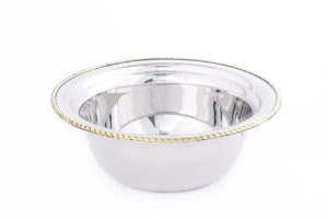 Round Stainless Steel Food Pan for #840, 3 Qt.