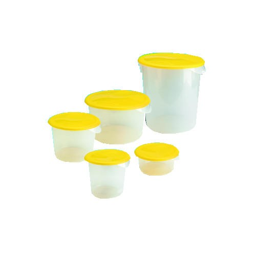 Round Storage Container Lid, 1 X 10.25 Diameter, Yellow