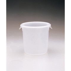 Round Storage Containers, 4qt, 8 1/2dia x 7 3/4h, White