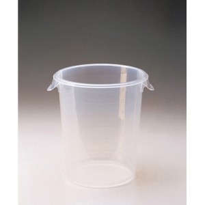 Round Storage Containers, 8qt, 10dia x 10 5/8h, Clear