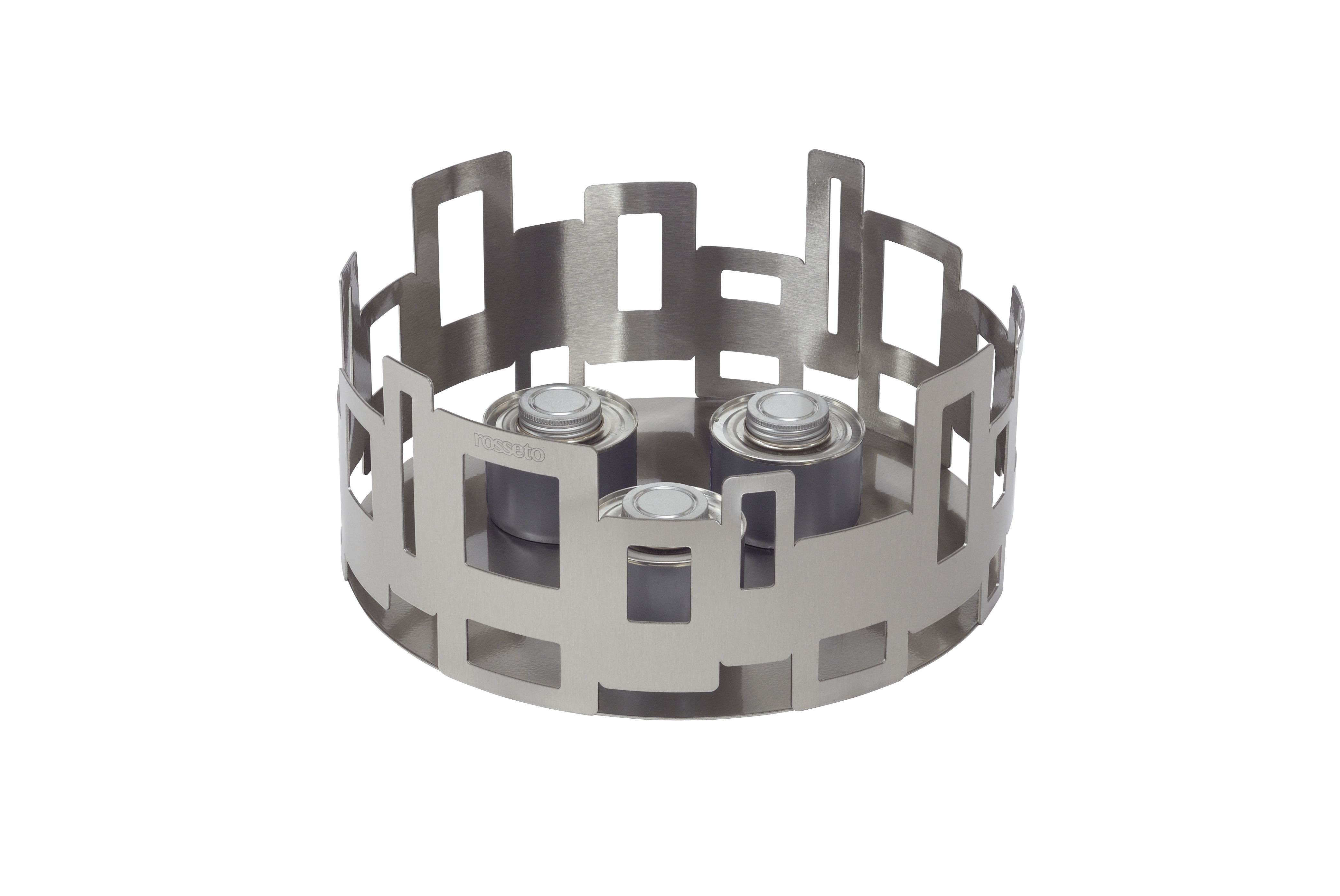 """Rosseto SM100 Round Stainless Steel Brushed Finish Buffet Warmer 14.25"""" x 6.75"""""""