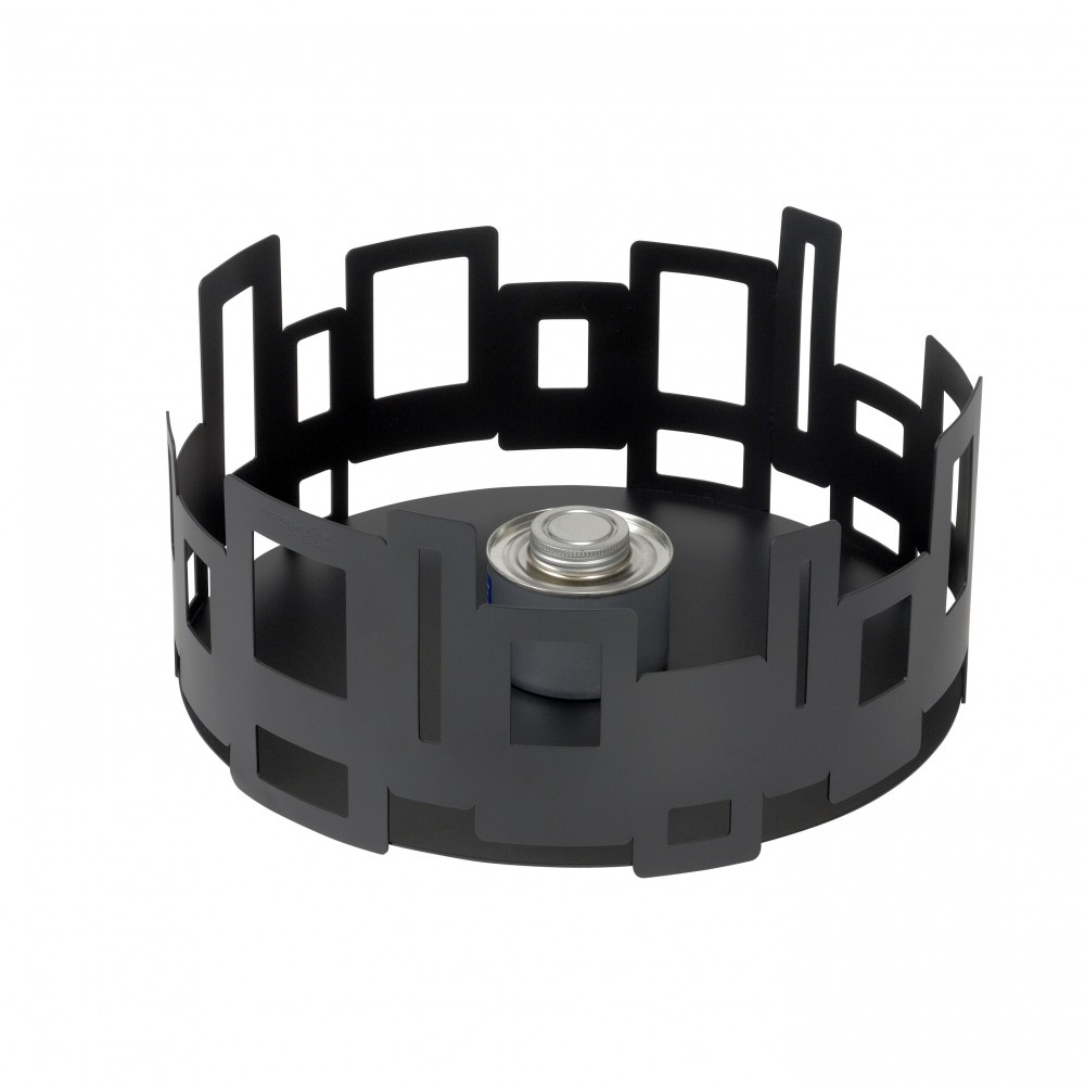 Round Warmer Black Powder Coated Steel- 14.25