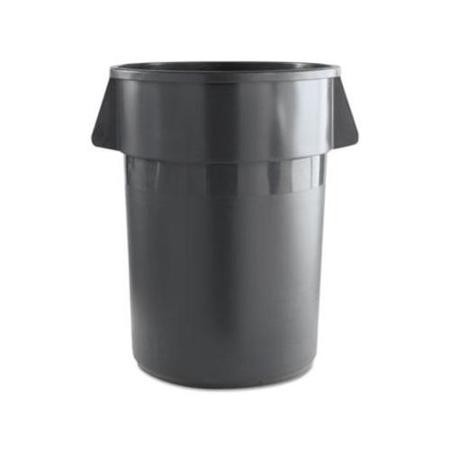 Unisan Round Gray Waste Receptacle, Plastic, 44 Gallons