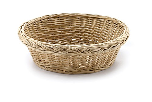 "TableCraft 16755 Round Handwoven Willow Basket, 9"" x 3"""
