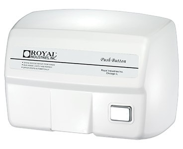 Royal Industries ROY DRY 2200ES 2200 Series Push Button Hand Dryer
