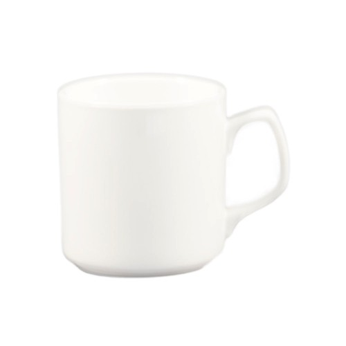 CAC China MUG-55-P Super White Royal 12 oz. Mug