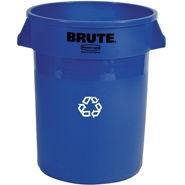 Rubbermaid 20 Gallon Blue Brute Recycling Container