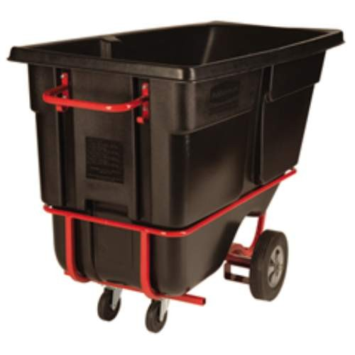 Rubbermaid Commercial Products 1 Cubic Yard Fork Pockettilt Truck, Standard Duty, Black (Box of 1)
