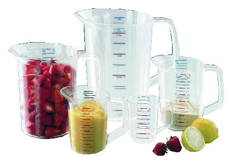 Rubbermaid Commercial Products Measuring Cup, 2 Quart, Clear (Box of 1)