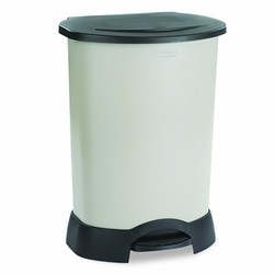 Rubbermaid Commercial Products Step-On Trash Container, 30 Gallon, Light-Platinum (Box of 1)