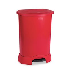 Rubbermaid Commercial Products Step-On Container, 30 Gallon, Red (Box of 1)