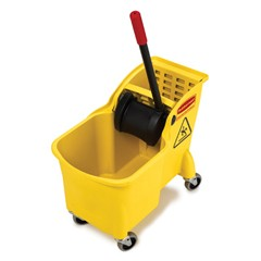 Rubbermaid Commercial Products Tandem 31-Quart Bucket/Wringer Combo, Yellow (Box of 1)