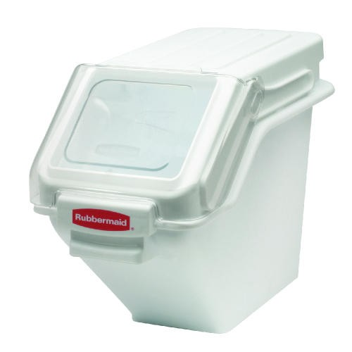 Rubbermaid Commercial Products Safety Storage Ingredient Bins, 100 Cup, White (Box of 1)