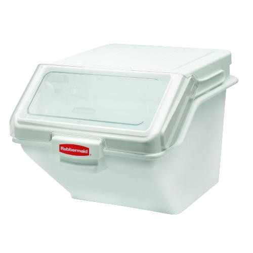 Rubbermaid Commercial Products Safety Storage Ingredient Bin, 200 Cup, White (Box of 1)
