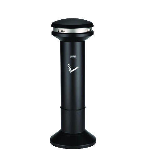 Rubbermaid Commercial Products Infinity Ultra-High Capacity 6.7 Gallon Smoking Urn, Weighted Base, Black (Box of 1)