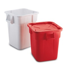 Rubbermaid Commercial Square Brute� Container White, Polyethylene, 40 gal