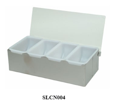 Thunder Group SLCN004 Stainless Steel 4 Compartment Condiment Caddy