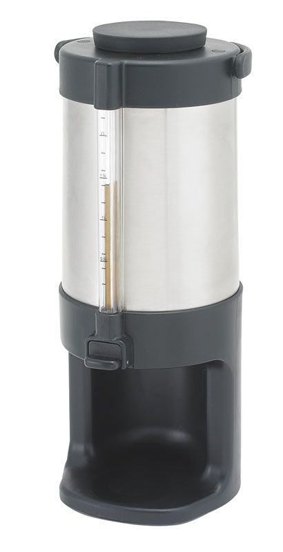 Stainless Steel Beverage Dispenser, Brew-thru Lid with Base, 2.2 L