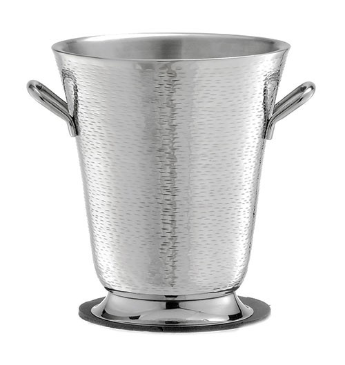 """TableCraft RWB119 Remington Round Double Wall Stainless Steel Bucket with Handles, 9"""" x 10"""