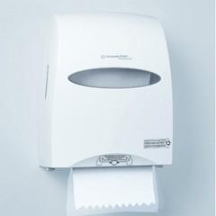 Kimbery Clark Sanitouch Hard Roll Towel Dispenser, White